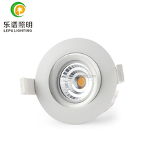 new 360deg tilt 2000-2800k classical model 9w dimmable cob led downlight design for north europe 83mm hole