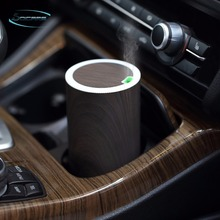 Car usb essential oil diffuse wood grain ultrasonic aroma for mist make