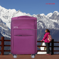 Hot sale soft material luggage bags & cases, swiss polo trolley luggage