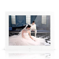 "15"" LCD display digital photo frame white color 1280*800pixels for advertising"