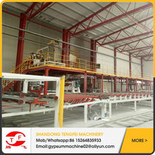 full automatic gypsum partition board making machinery with fuel of natural gas