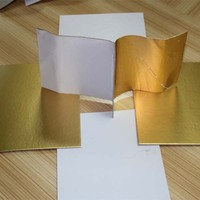 Hot Sale Paper Export 3mm White Back Golden/Silver Cake Bases Boards