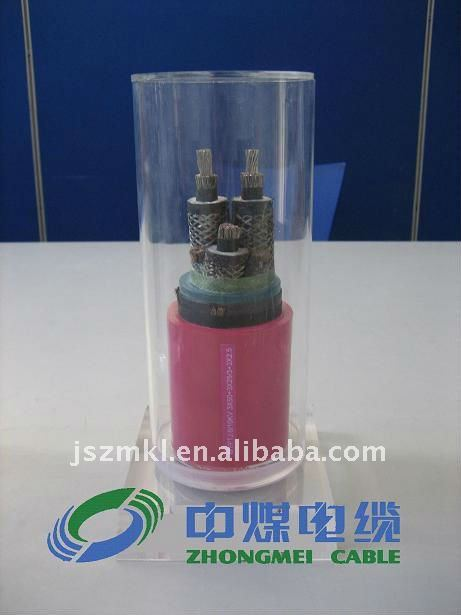 6/10KV metal shielding rubber jacketed flexible mining cable (with monitoring core)