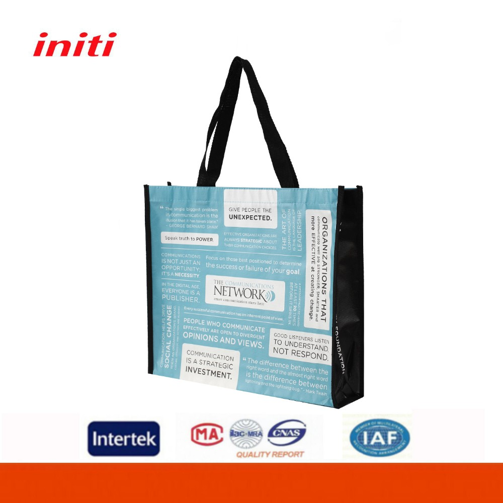 Promotional Customized Printing Full Color Nonwoven Reusable Shopping Bag