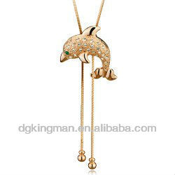 Wholesale Dreamland Jewelry Crystal Dolphine Necklace