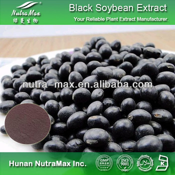 100% Natural Black Soybean Extract Powder 4:1~20:1--NutraMax Supplier