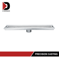 polished stainless steel european parking lot drain