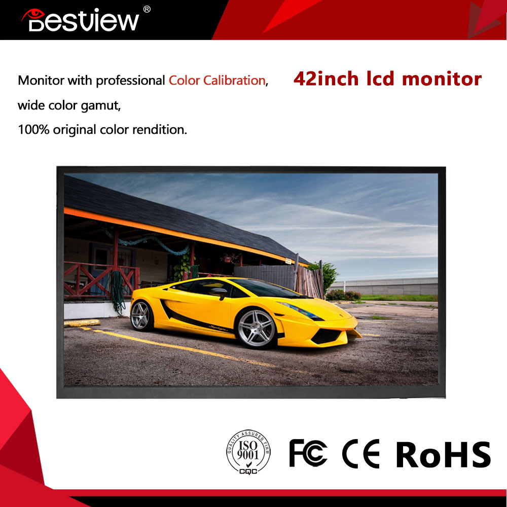TFT color full HD 1080p LCD HDMI Vedio monitor 42 inch lcd cctv monitor