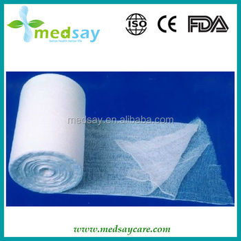 Medical disposable absorbent cotton gauze roll
