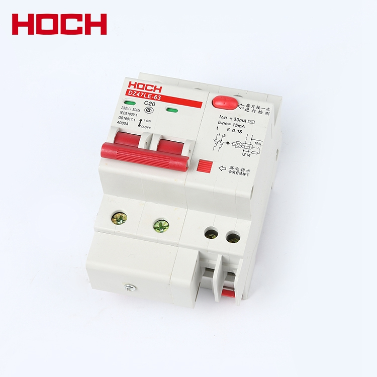 HOCH DZ47LE series Residual current earth leakage 2 POLE RCCB circuit breaker