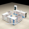 Modern cell phone repair kiosk and phone accessories kiosk for sale