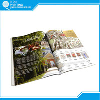 top quality film lamination full color catalogue printed