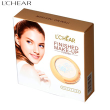 AE5163W LCHEAR brand custom logo wholesale fashion press powder oil-control cosmetic for face compact powder foundation