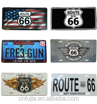 route 66 decor car license plates,metal gift