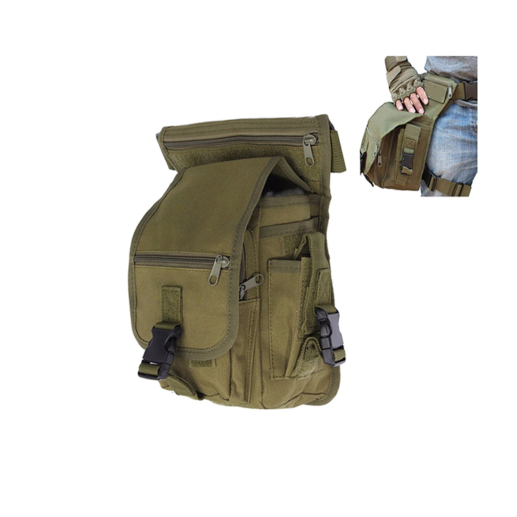 1WS0095 Outdoor Hiking Tactical Military Leg Bag Utility Waist Belt Pouch Pack For Men