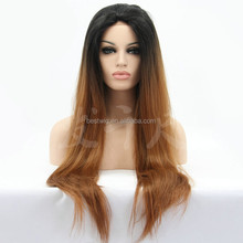 half hand made half machine weft synthetic lace wig