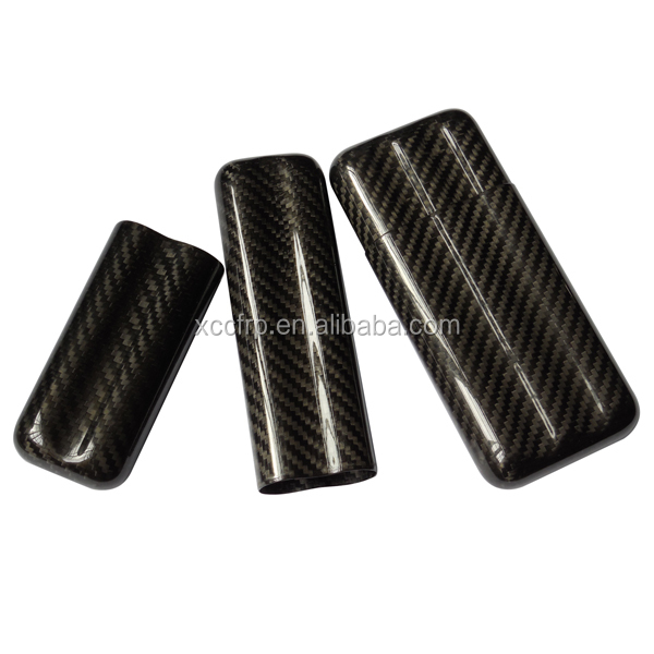 Travel Humidor carbon fiber cigar case 3-finger humidor