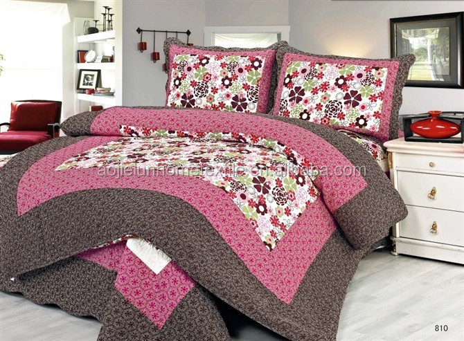 Bruin en water meloen rode kleur patchwork sprei beddengoed set product id 60135696421 dutch - Lakens en sprei ...