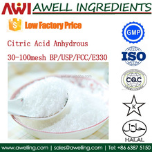 Food Grade Citric Acid Anhydrous with low factory price