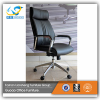 Modern Design Plating Base Office Chair with Leather Cushion for 130kg Person