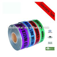 Underground detectable warning tape marker barricade tape