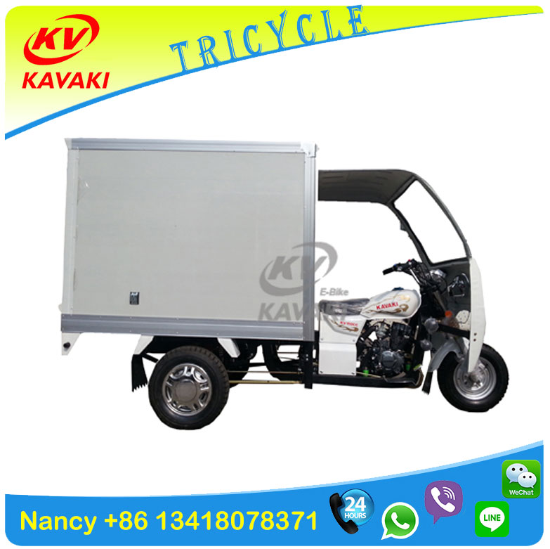 KAVAKI Tricycle sale ice cream delivery refrigerator tricycle/frozen cabin three wheel motorcycle /cabin cargo tricycle /motorbi