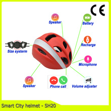 city urban smart bicycle helmet with speaker and microphone for casual cycling biker