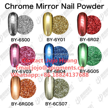 Chrome mirror nail powder mirror effect pigments powder