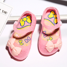Greenshoe wholesale kids fancy jelly sandals kids nude sandals shoes,girls kid sandal china
