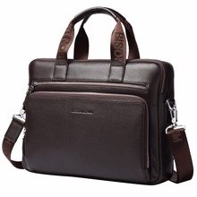 14 Inch Business Laptop Leather Briefcase For Men