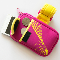 double poket change and phone case,neoprene mobile phone bag/sleeve/case