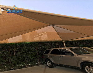 HDPE swimming pool awnings and sun shade sails