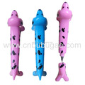 cute dog shape ball pen for kids and school supply for promotion