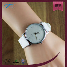 White elegant leather strap different styles of vogue gifts watches for women