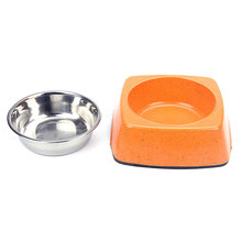 Wholesale Factory Customized Bamboo Stainless Steel Dog Bowl