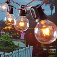 125w 25 bulbs G40 LED string globe lights festoon lighting outdoor globe with led light