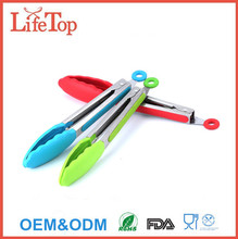 China Factory Stainless Steel & Silicone food tongs