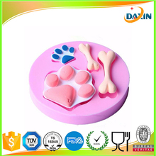 New Arrival Dog Foot & Bone Shape Funny Silicome Cake mold 3d silicone cake decorating molds