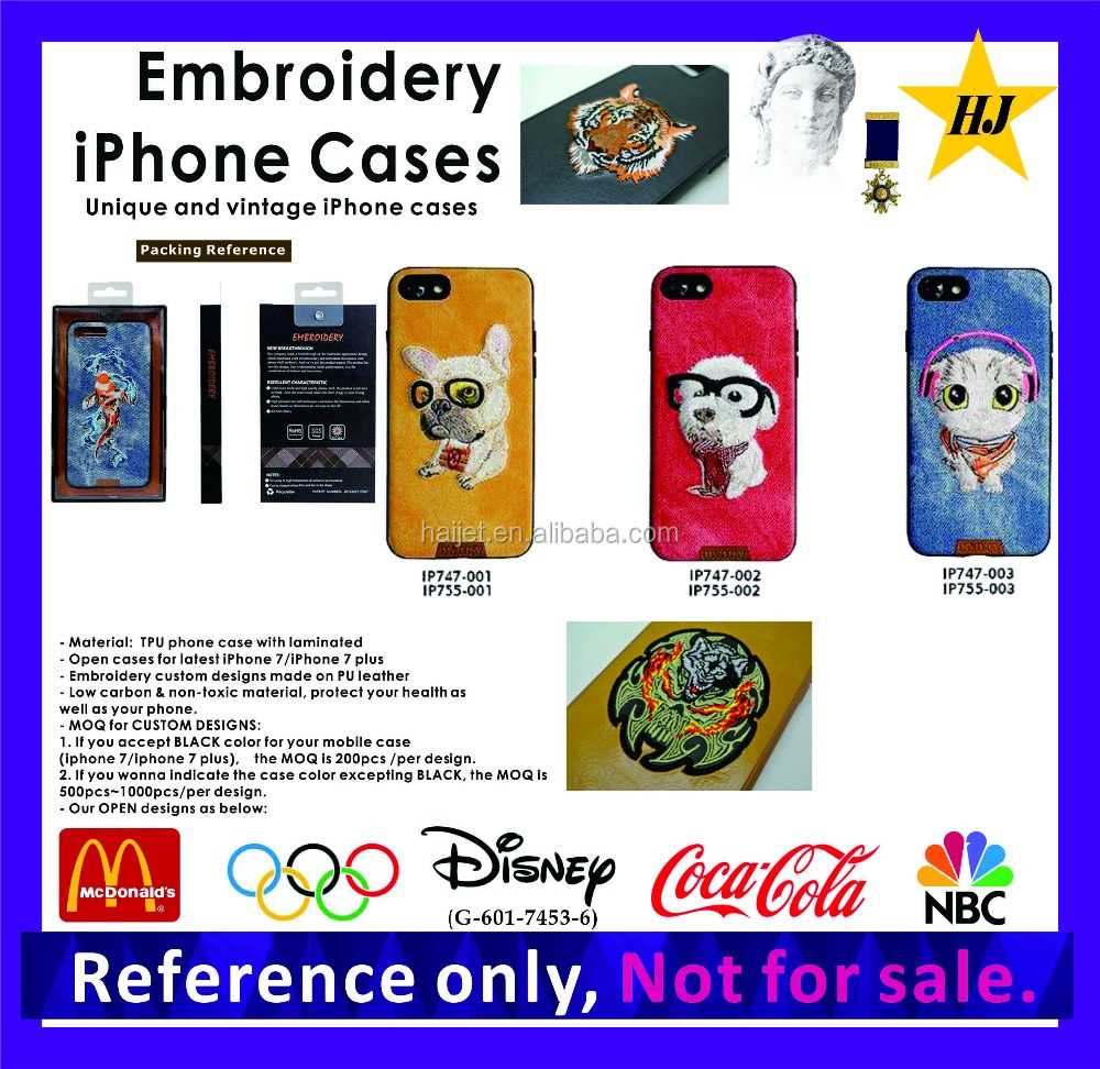 Promotional Embroidery mobile phone case