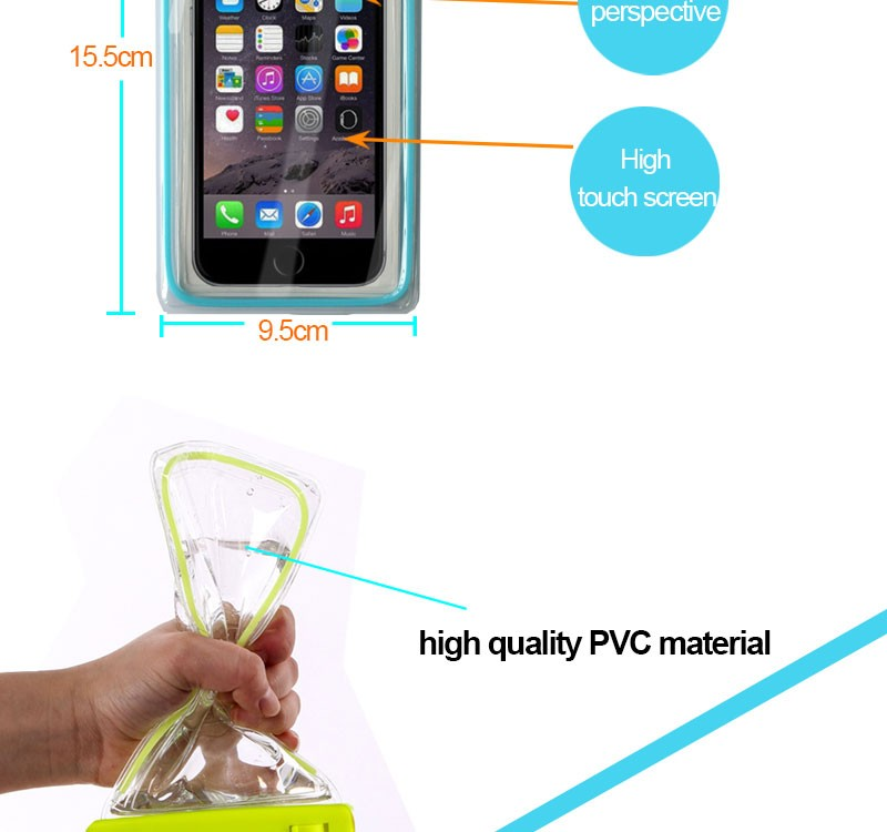 JunBo New Waterproof Bag Universal Size PVC Case for Mobile Phone