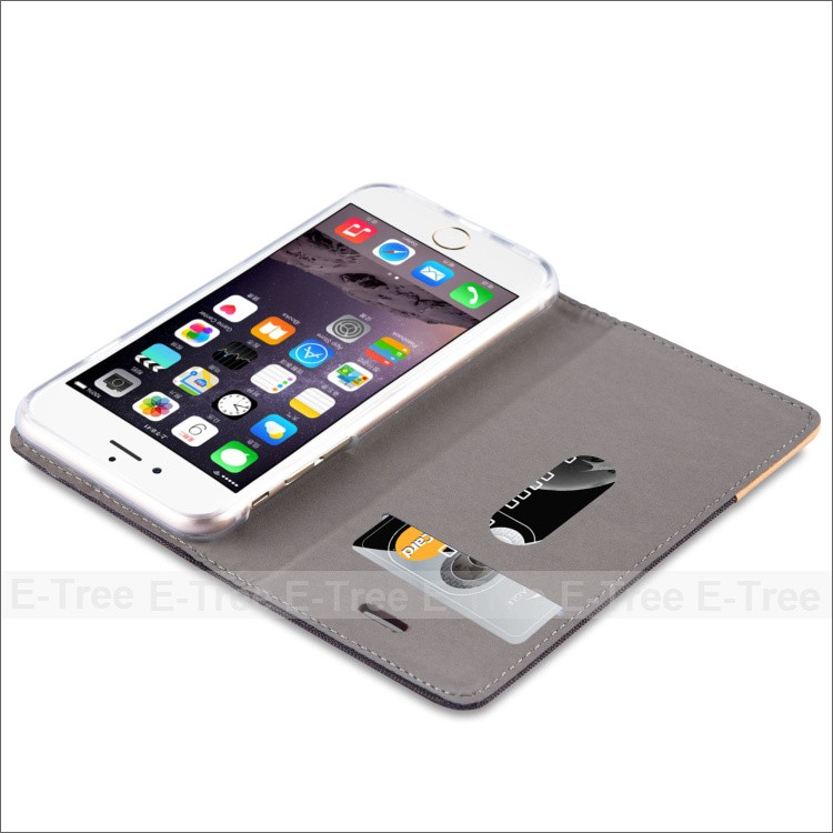 Luxury Soft PU Leather Book Case For Apple iPhone 6,Slim Wallet Case For iphone 6