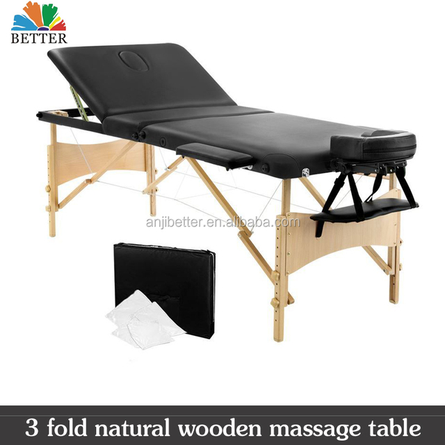 2017 Wooden Massage Table 3 Fold facial bed salon 70cm width