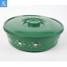 High quality plastic container tortilla warmer with Christmas design