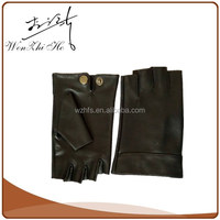 Cut Fingers Car Driving Gloves Men Leather With Free Sample