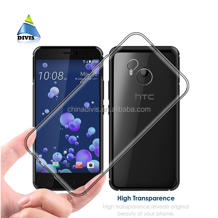 Crystal Clear mobilephone shell Premium Flexible TPU Silicone Case Phone Cover For HTC U 11 Ocean