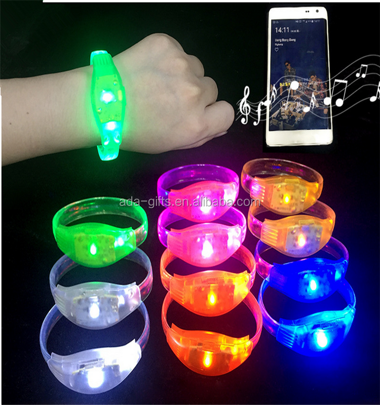 Colorful Concert Glowing Bracelet Remote Control Led Silicone Bracelet