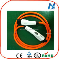 UL standards type 1 ev charging cable connectors ac 240v electric vehicle car sae j1772 type 1 to iec 62196 type 2