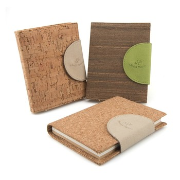 Cork Cover Brown Paper Spiral Diary and Notebook Wholesale
