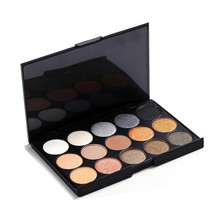 15 colors Private Label Glitter Matte Eyeshadow Palette