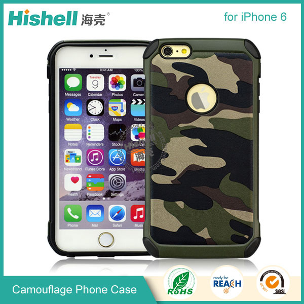 Mobile phone protector camouflage case for iphone 6